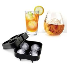 1pc Whiskey Cocktail Ice Cube Ball, 4 Large Sphere Mold Silicone Ice Ball Maker