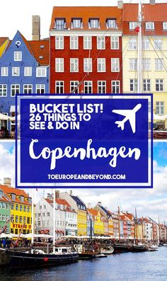 Your Copenhagen Bucket List: 26 Spaces and Places You Can't Miss First-timer to Copenhagen? Here are the 26 places you've got to see and things you've got to eat. Velkommen til Danmark! Oh The Places You'll Go, Places To Travel, Travel Destinations, Food Places, Copenhagen Travel, Copenhagen Denmark, Stockholm Sweden, Denmark Travel, Travel Tips