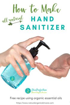 "In just a few minutes you can create your own hand sanitizer at home! Don't pay the outrageous price that online retailers are charging. You'll love the fact that there are no ""nasties,"" parabens or triclosan in our all-natural recipe. You can use 99% Isopropyl Alcohol or Organic Alcohol along with organic essential oils."
