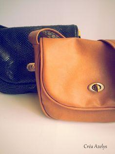 Mini sam de Merci giroflée. Simili cuir et coton Saddle Bags, Sewing, Blog, Fashion, Tuto Sac, World Animals, Clutch Bags, Sons, Thanks