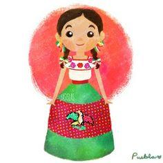 Trajes típicos de México by Yasmin Islas - Puebla