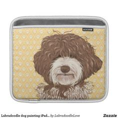 Choose from a variety of iPad sleeves or make your own! iPad sleeves from Zazzle. Shop for new custom iPad 3 & 4 sleeves! Labradoodle Dog, Ipad Sleeve, Cartoon Dog, Dog Paintings, Cover, Dogs, Sleeves, Pet Dogs, Doggies