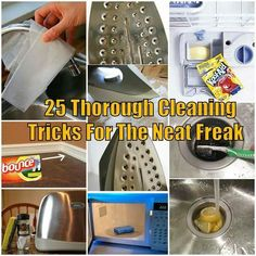 25 thorough cleaning tips