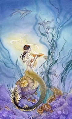 Page of Cups, Shadowscapes Tarot:  Sentimental, romantic, sympathetic, understanding, intuition.