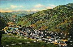 Idaho Springs Colorado CO 1940s Clear Creek Canyon Town Antique Vintage Postcard