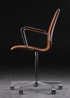 arne jacobsen oxford office chair walnut elegance leather arne jacobsen office chair