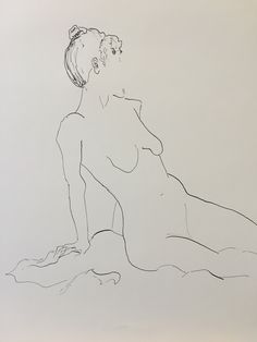 female nude pen and ink