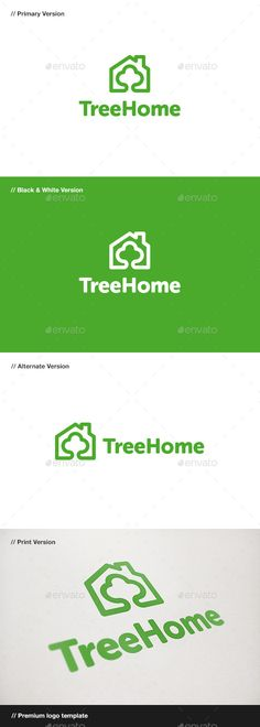 Tree Home Logo by domibit Tree Home: is a logo that can be used in construction of houses with timber companies, companies that serve ecological constructio