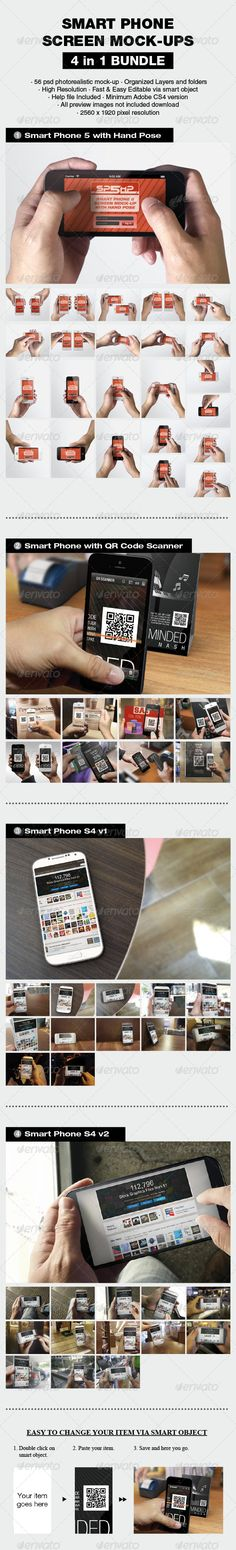 Smart Phone Mockup Bundle — Photoshop PSD #smart phone #hand pose • Available here → https://graphicriver.net/item/smart-phone-mockup-bundle/8063153?ref=pxcr