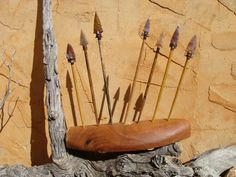 Arrowhead Display Awesomeness! Lithic art arrowhead display by PanhandlePrimitive on Etsy, $575.00
