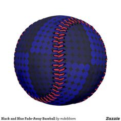 Black and Blue Fade-Away Baseball