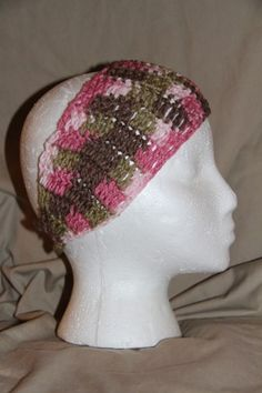 "Price is for 1 ear warmer/headband! Crocheted from new & unused yarn & right here in the USA:-) #pmscrafts #smokefree #petfree #fabulous   The headband or ear warmer are made to fit MOST standard heads. The ""pretend"" head is a standa"