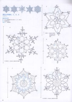 The snowflakes crochet pattern is a good guideline to knit the crochet products. There are some crochet patterns that can be chosen for knitting. Every crochet pattern is like a magical pattern and motif. Free Crochet Snowflake Patterns, Crochet Stars, Crochet Snowflakes, Thread Crochet, Crochet Crafts, Crochet Flowers, Crochet Stitches, Crochet Patterns, Crochet Diagram