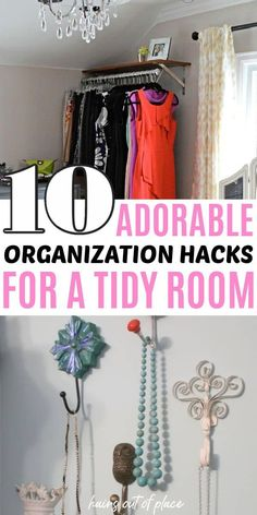 10 must know bedroom organization hacks for small spaces. Keep your small room organized with these DIY organization ideas. Great ideas for dorm room organization too.