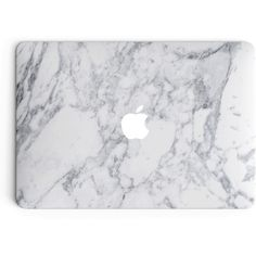 Marble MacBook Skin White ($25) ❤ liked on Polyvore featuring accessories, tech accessories, fillers, electronics, ipad and laptop