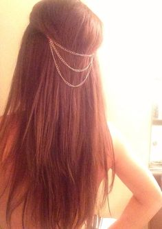 Rose Gold Hair Chain / Hair Jewelry by KillaLipstickInc on Etsy, $8.00