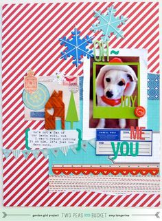 Oh Joy - Holiday layout by Amy Tangerine - Two Peas in a Bucket