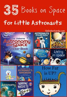 Astronauts of all ages will LOVE these books about space! Use them in your homeschool curriculum, give them as gifts or just because! These 35 space books for kids are sure to send even the smallest spaceman to the moon and back!