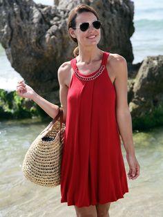 Vestidos coctel para fiesta en la playa