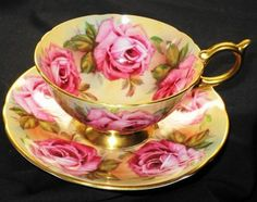 Aynsley exclusively ROSE Roses Colossol  #Tea #cup #and #saucer