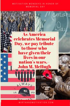 Motivation Mondays: Remember & Honor #MemorialDay | Mirth and Motivation #motivationalquotes #motivation #motivationmonday #remembrance #memories #memorialday Mental Health Awareness Month, Motivational Quotes, Inspirational Quotes, Thing 1, Raise Your Hand, Positive Life, Love, Take Care Of Yourself, Monday Motivation