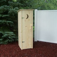 Prairie Leisure Design 2 Ft. W x 2 Ft. D Wood Outhouse Storage Shed & Reviews | Wayfair