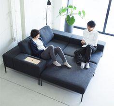 暮らしに合わせた組み合わせが可能なソファ