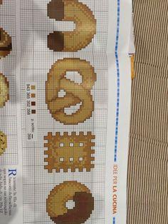 schema punto a croce biscotti | Hobby lavori femminili - ricamo - uncinetto - maglia
