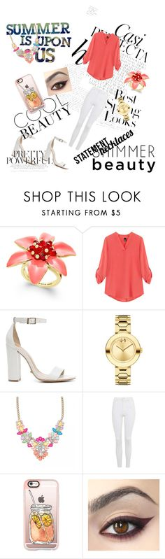 """Untitled #28"" by ajlakukic ❤ liked on Polyvore featuring Whiteley, H&M, Kate Spade, Schutz, Movado, Topshop, Casetify and statementnecklaces"
