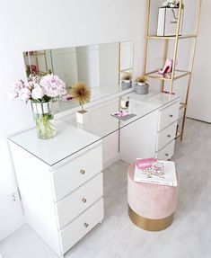 61 Dressing Table Design Ideas Home Design Dressing Table Inspo, Built In Dressing Table, Dressing Table Organisation, Dressing Table Design, Dressing Table Storage, Diy Makeup Dressing Table, Corner Dressing Table, Ikea Malm Dressing Table, Dressing Table Vanity