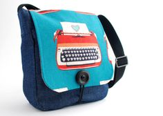 Melody Miller/Michelle Patterns Messenger Bag by sewquine@theochiltree