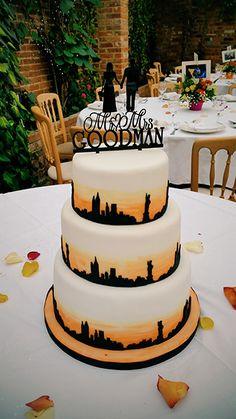 New York Themed Wedding Cake