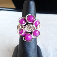 made in Ireland. by terramor on Etsy Jade Ring, Wire Rings, Heart Ring, Ireland, Trending Outfits, Unique Jewelry, Handmade Gifts, Pink, How To Make