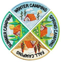 MakingFriends Camping Seasons Patch Group Does your troop love camping? Take them camping each season and this camping patch set is just right for the back of their vest. Girl Scout Swap, Daisy Girl Scouts, Girl Scout Leader, Girl Scout Troop, Brownie Girl Scouts, Boy Scouts, Girl Scout Fun Patches, Girl Scouts Of America, Girl Scout Activities