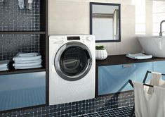 few space for laundry machine Stacked Washer Dryer, Washer And Dryer, Home Accents, Washing Machine, Sweet Home, Laundry, Home Appliances, House Styles, Html