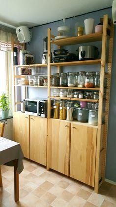 Ikea ivar meets pantry Ikea ivar meets pantry - Own Kitchen Pantry Kitchen Pantry Cabinet Freestanding, Ikea Kitchen Pantry, Kitchen Pantry Design, Diy Kitchen Cabinets, Home Decor Kitchen, Kitchen Storage, Free Standing Kitchen Cabinets, Kitchen Taps, Island Kitchen