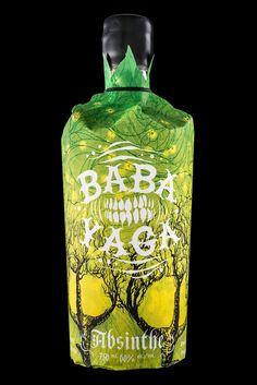 Creative Packaging, Baba, Yaga, Absinthe, and Arbutus image ideas & inspiration on Designspiration Baba Yaga, Beverage Packaging, Bottle Packaging, Green Fairy Absinthe, Label Design, Package Design, Graphic Design, Liquor Bottles, Packaging Design Inspiration