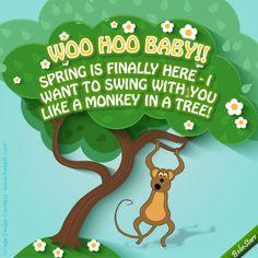 #Spring www.123greetings.com/profile/bebestarr #monkey