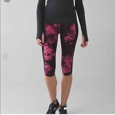 Lululemon 8 Blooming Pixie Raspberry Crops NWT Blooming Pixie Crops - NWT - Stop at Nothing style - Size 8. New with tags attached. Retails for $132 USD (118 Euros). Unique and different style and color. Great for yoga, running, CrossFit, lifting, walking. Love the medium rise on these. Found the Australian Blooming Pixie in High Times, so selling this pair. Trade value is $132. Thx. lululemon athletica Pants Ankle & Cropped