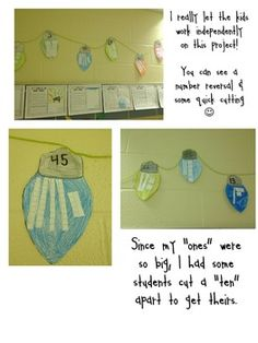 Place value activity - have the class put them in order after each child makes a number