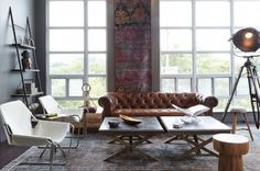 Great Spaces: Jamie Metrick of the Elte clan raided the store's showroom to decorate his condo House Styles, Decor, Interior Design, House Interior, Inspired Homes, Interior Spaces, Cute Living Room, Beautiful Houses Interior, Home Decor