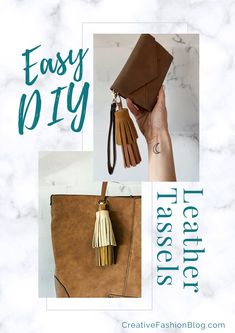 In today's tutorial, you'll learn how to make leather tassels without sewing in less than 5 minutes! This project is perfect for giving your old accessories a little upgrade or adding the finishing touches on a newly made project. Who doesn't love making tassels? #diyaccessories #howtosew #diycrafts #leathertassels #diyaccessoriestosell #diyaccessoriesfashion Making Tassels, How To Make Tassels, Sewing Tips, Sewing Hacks, Sewing Tutorials, Make Your Own Clothes, Make Your Own Jewelry, Diy Fashion Accessories, Sewing Accessories