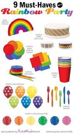 Rainbow Birthday Party Ideas #19 DIY Decor and Party Food