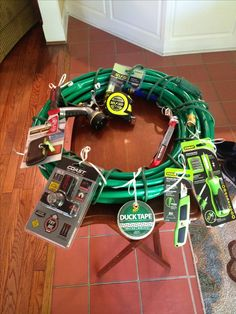 Wreath for a tool and gadget party