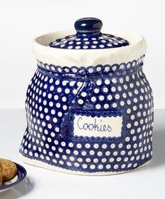 'Cookies' Jar by Lidia's Polish Pottery #zulily #zulilyfinds