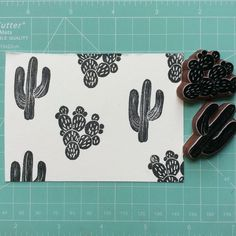 Image result for diy cactus foam stamp
