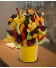 Spring Blooming Blossom scent free fruit bouquet are great for all occasions and make great gifts ideas or decorations from a proud Canadian Company. Great alternative to traditional flowers or fruit baskets