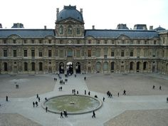"The Square Court of the Louvre, Paris, begun 1546, by Lescot. ""The building which established French classicism was the Square Court of the Louvre for Francois I by Pierre Lescot(1510-15-1578). Lescot knowledge of ancient art very likely in great part through Serlio's book which had been published in 1537."""