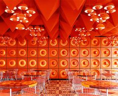 this is what an interiors rock stars work  looked like in the 60s Verner Panton Interiors // Restaurant Varna & Spiegel Verlagshaus. | yellowtrace blog »
