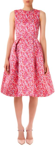 """Mary Katrantzou [span class=""""product-displayname""""]Astere Lace/Letter Printed Satin Dress[/span]"""